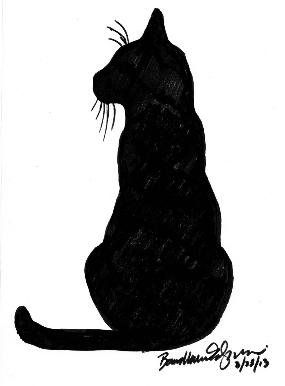 1000x1353 daily sketch alert daily cat sketches black cat tattoos, cat