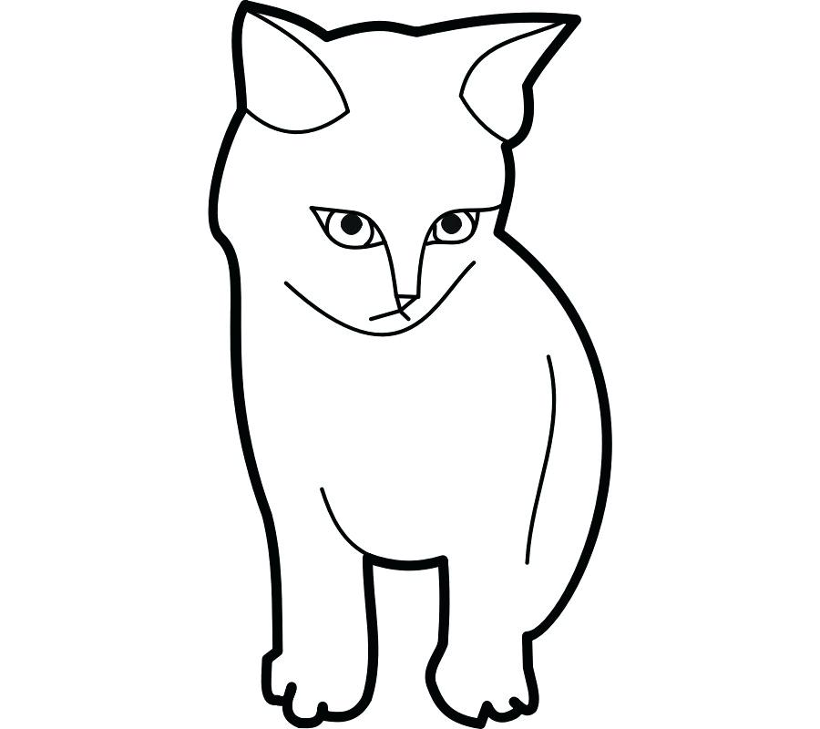 900x800 Cat Outline Simple Cat Face Paint Simple Cat Drawing Kitty Face