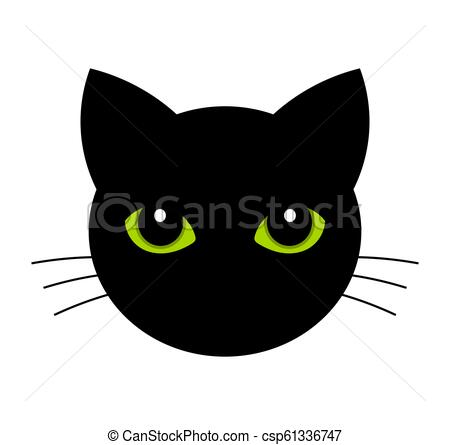 450x445 Cat Face With Green Eyes Black Cat Face With Green Eyes