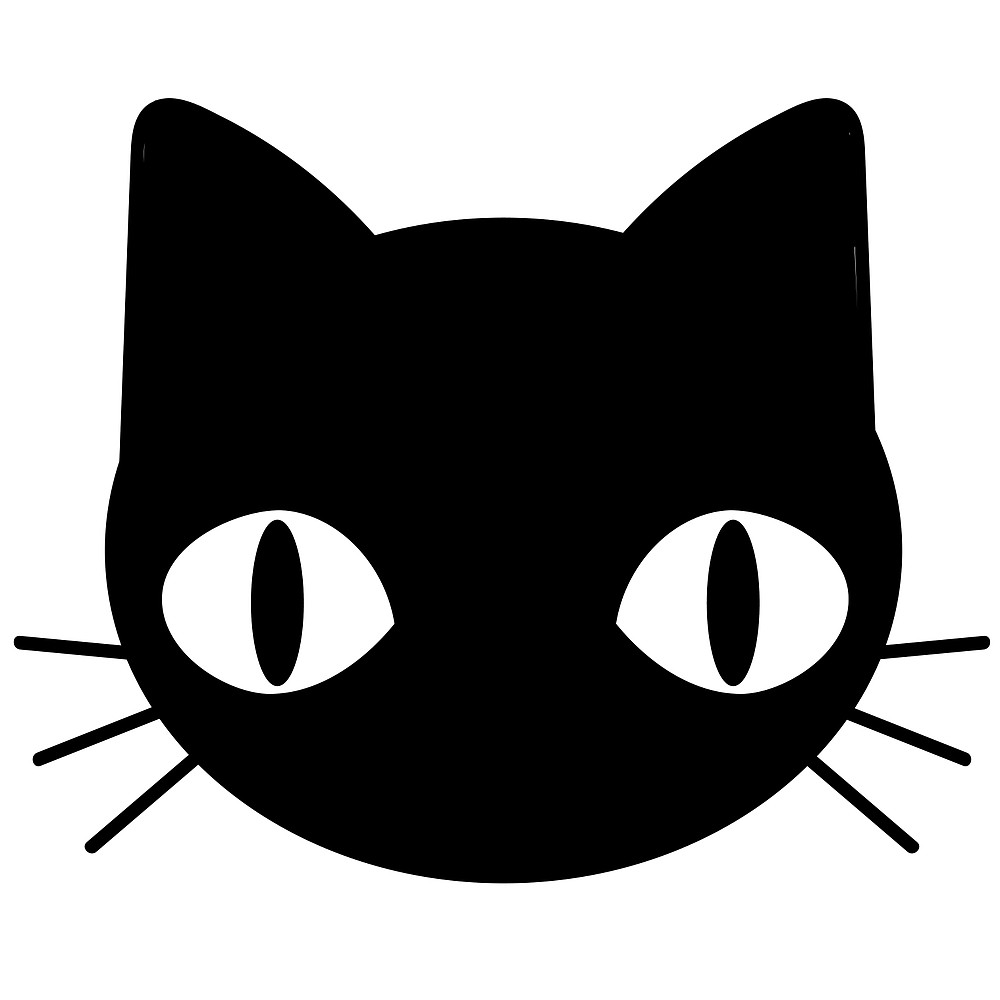 1000x1000 Cute Freaky Black Cat Face
