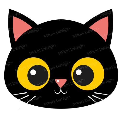 500x500 Image Silhouette Designs I Own Cat Applique, Cat Face, Cat