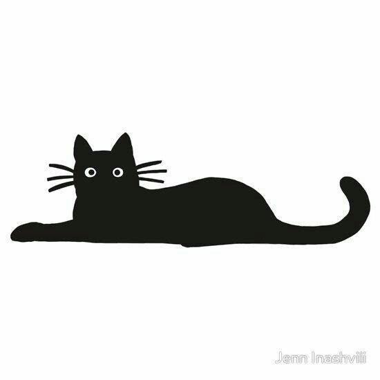 550x550 Kedi Black Cat Tattoos, Cats, Cat Silhouette