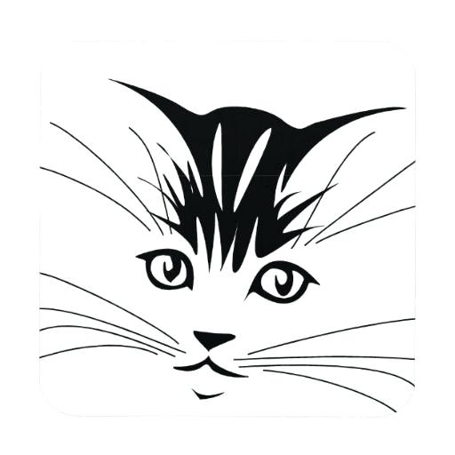 512x512 Cat Face Drawing
