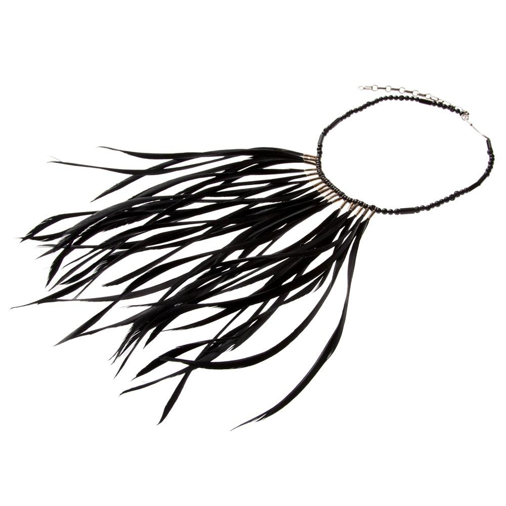 1000x1000 Black Feather Necklace