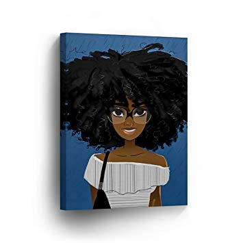 355x355 Smileartdesign Cute African Girl Afro Hair Glasses