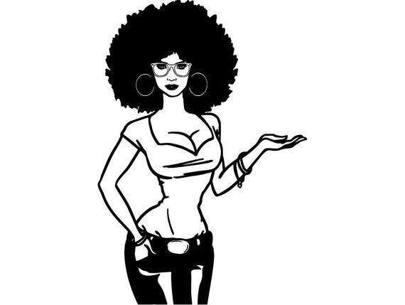 570x429 Black Women Nubian Princess Queen Afro Hair Beautiful African Etsy