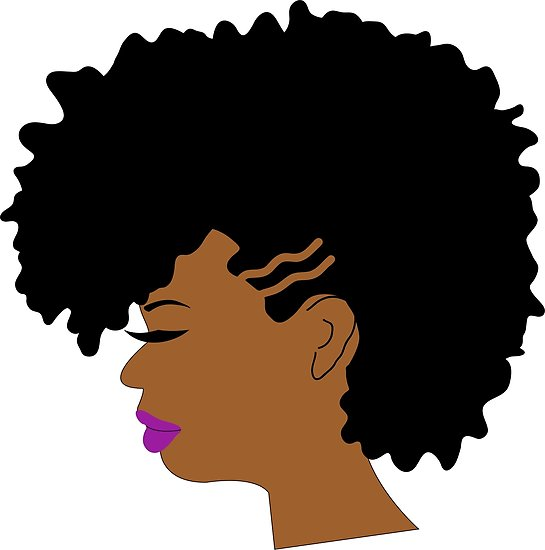 545x550 Curly Afro Girl With Shaved Sides Edgy Hairstyle Posters