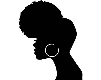 340x270 Woman With Afro Clipart