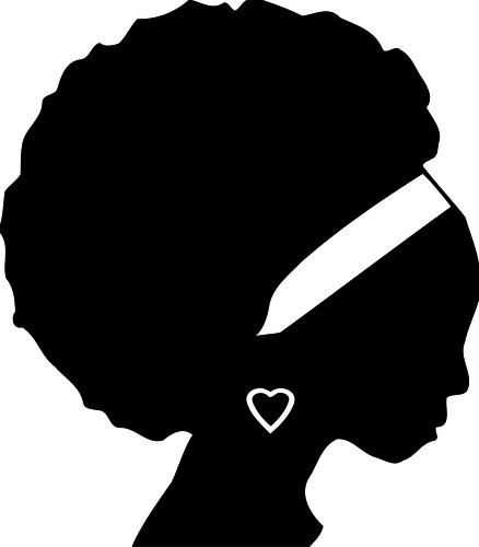 438x500 Free Black Woman Silhouette Clip Art