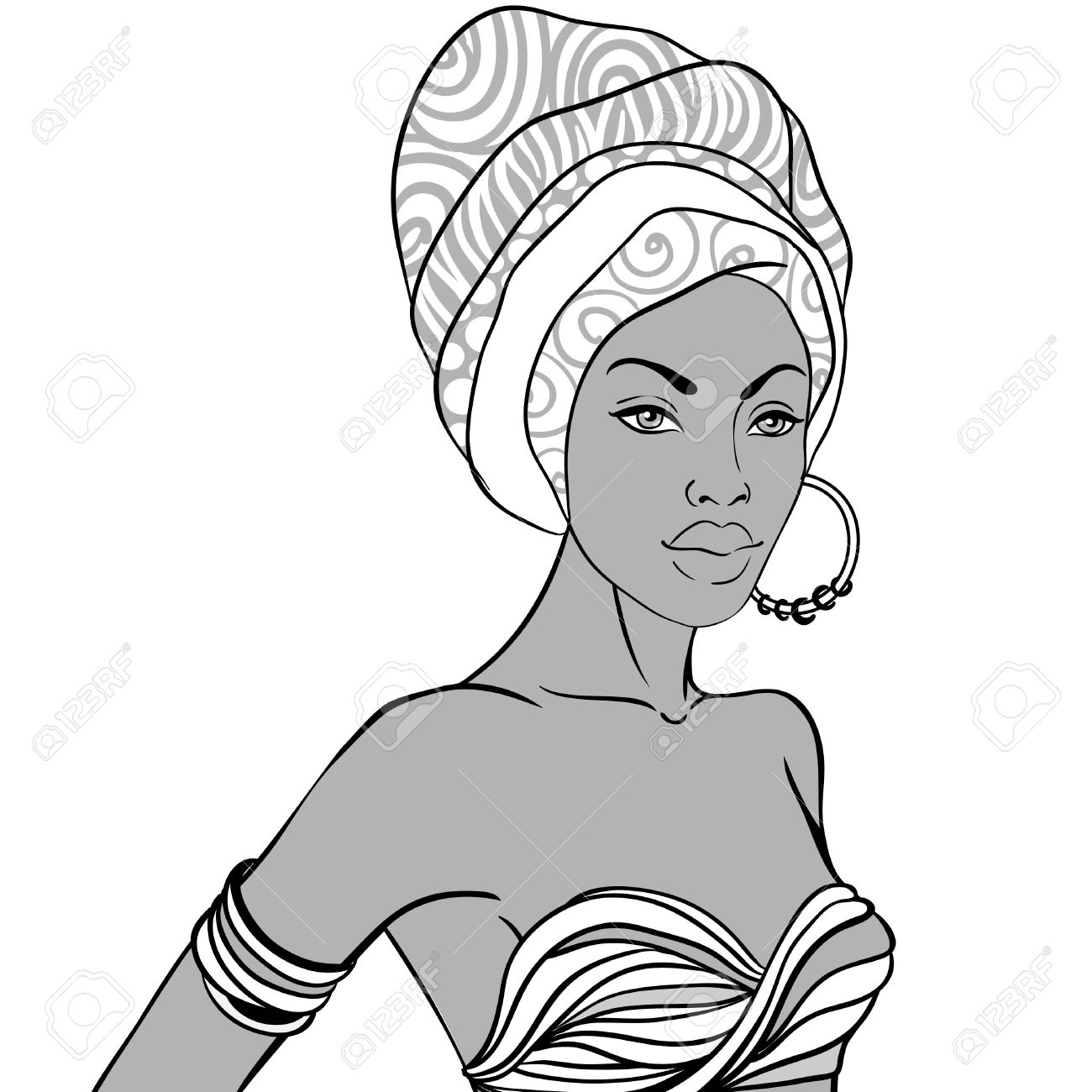 1300x1300 Afro Drawing Beauty For Free Download