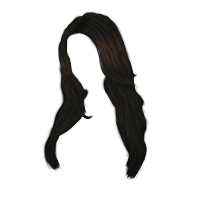 400x400 Long Black Women Hair Transparent Png