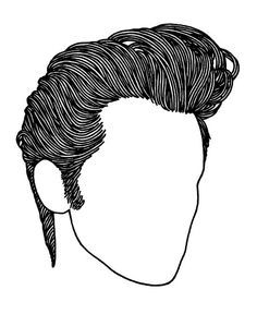 236x288 Greaser Hair Drawing