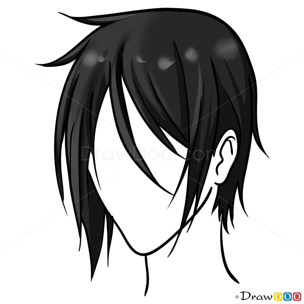 1000x1000 Anime Hair Drawing Easy Lesson, Step