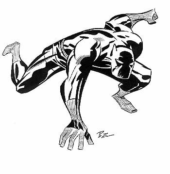 350x359 Black Panther Marvel Drawings