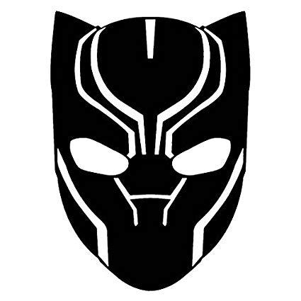 425x425 Marvel Comics Avengers Black Panther Head, Black