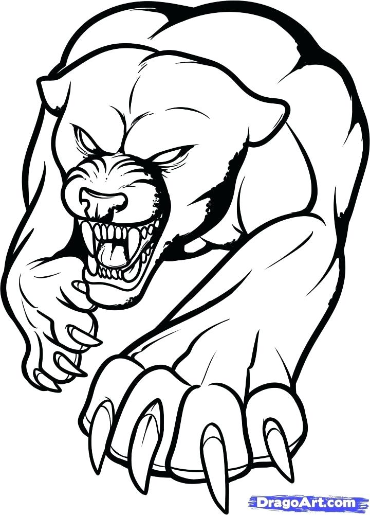 720x1001 Drawings Of Panthers Black Panther Coloring Pages Panthers