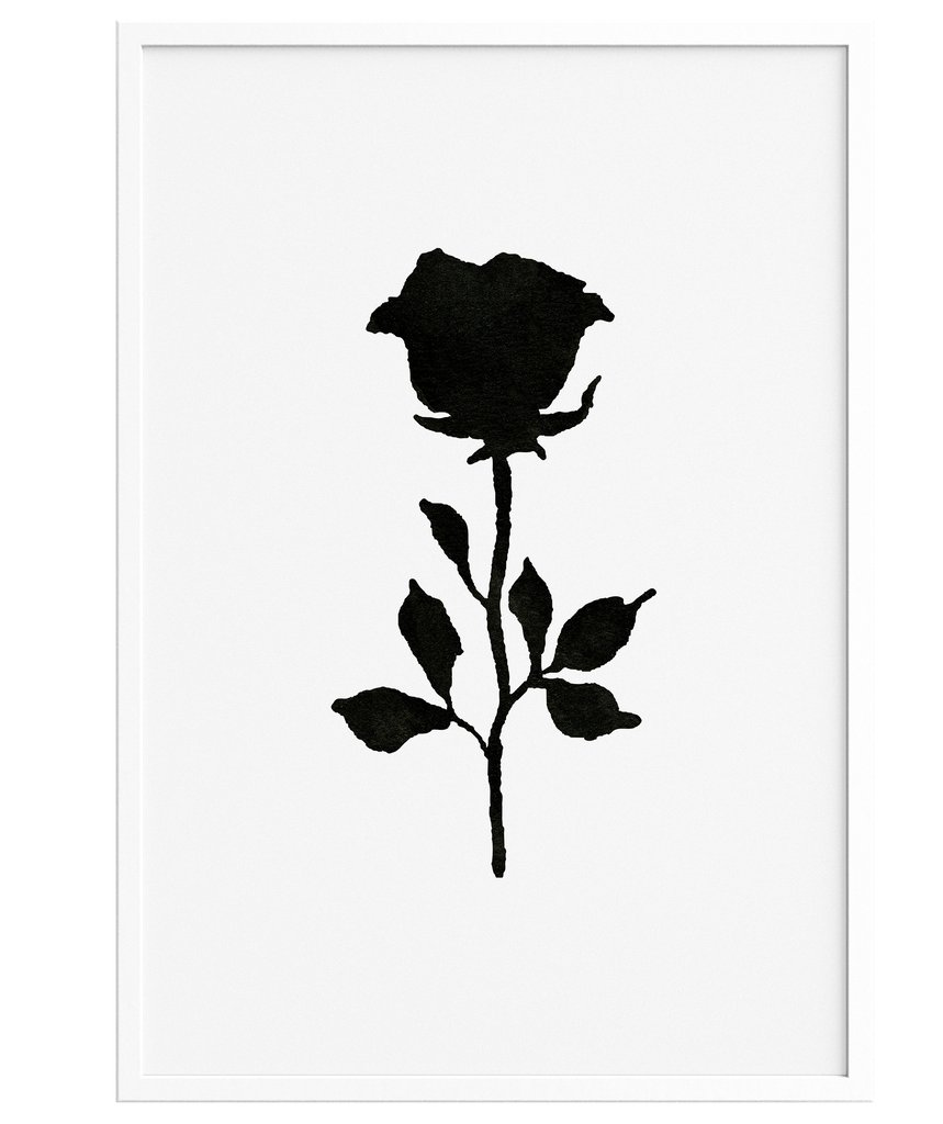 859x1024 Rose Drawing Minimalist For Free Download