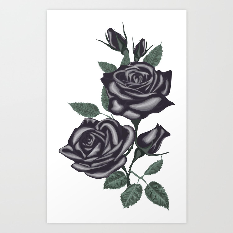 1500x1500 Black Roses