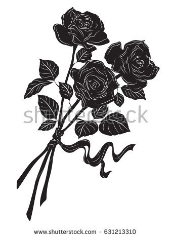 338x470 Rose Black And White Drawing Gallery Images