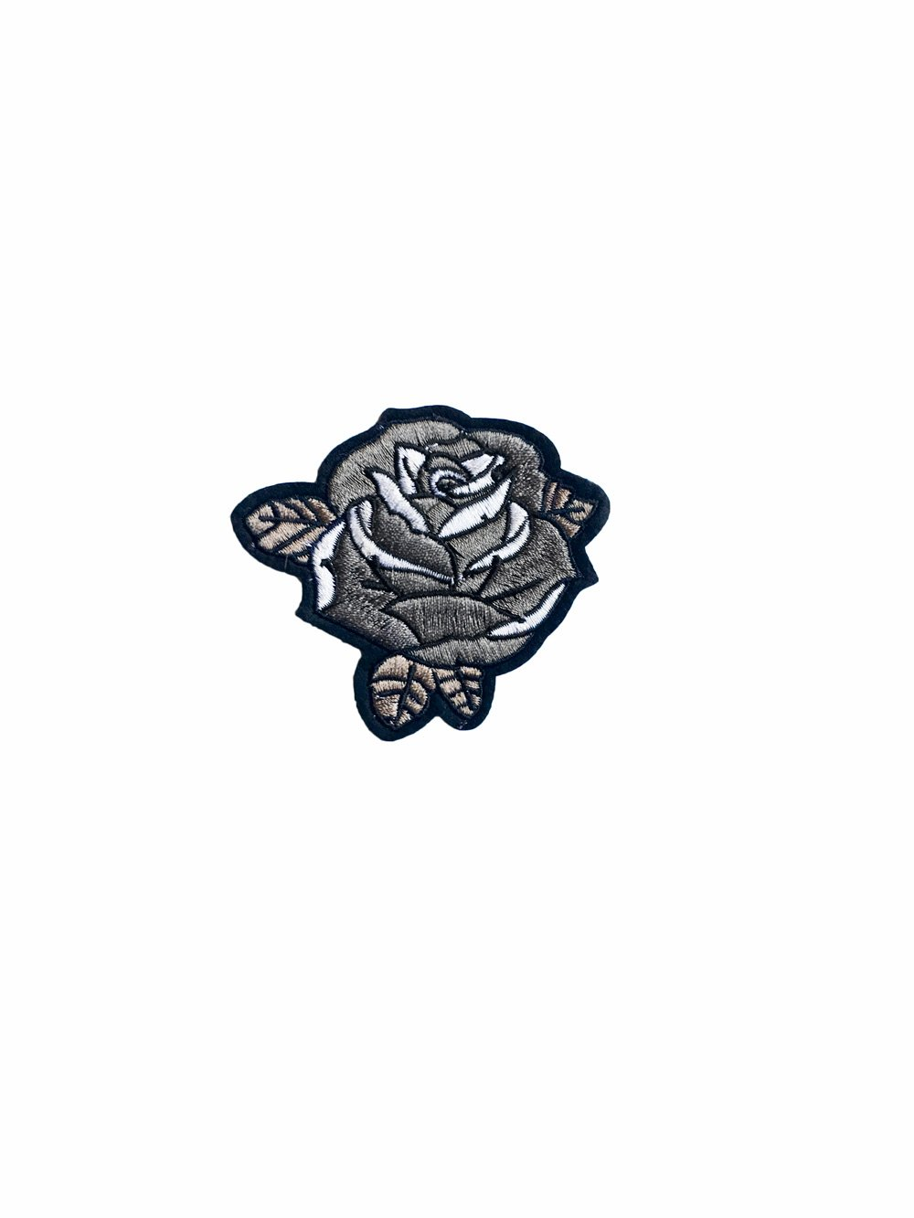 1000x1333 Black Rose Iron On Patch Rad Girl