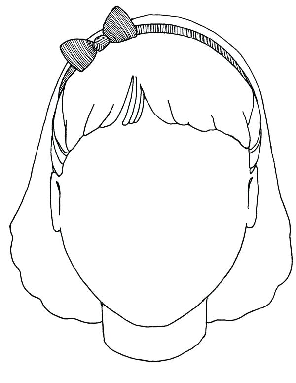 600x776 Face Coloring Pages Blank Faces Drawing