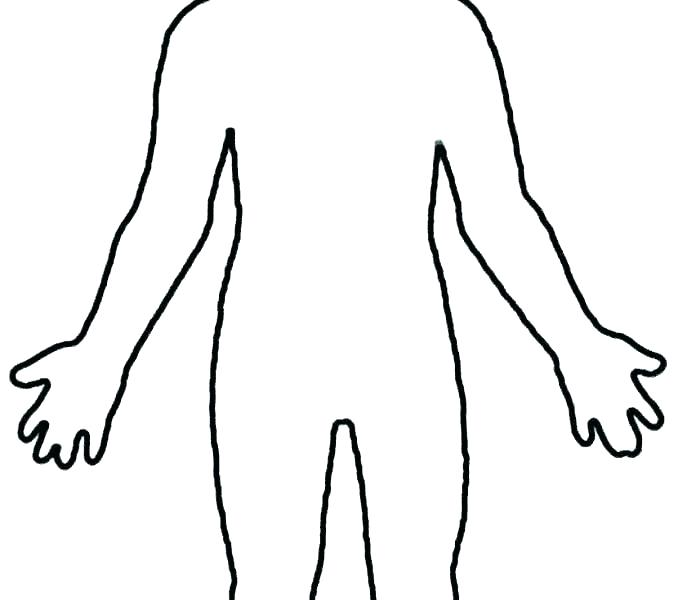 678x600 Person Outline Coloring