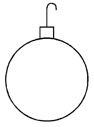 328x441 Printable Christmas Ornaments Coloring Pages Unique Blank Drawing