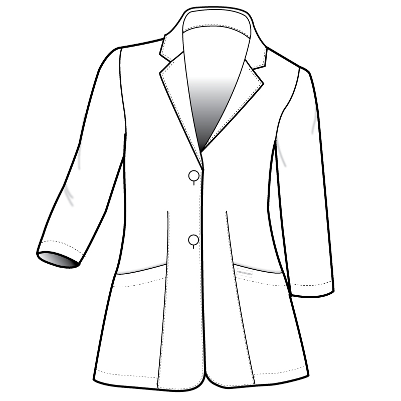 800x800 coat drawing lab coat for free download