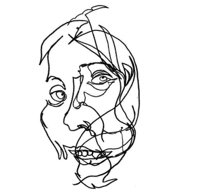 680x672 Draw A Blind Contour Portrait From Any Photo