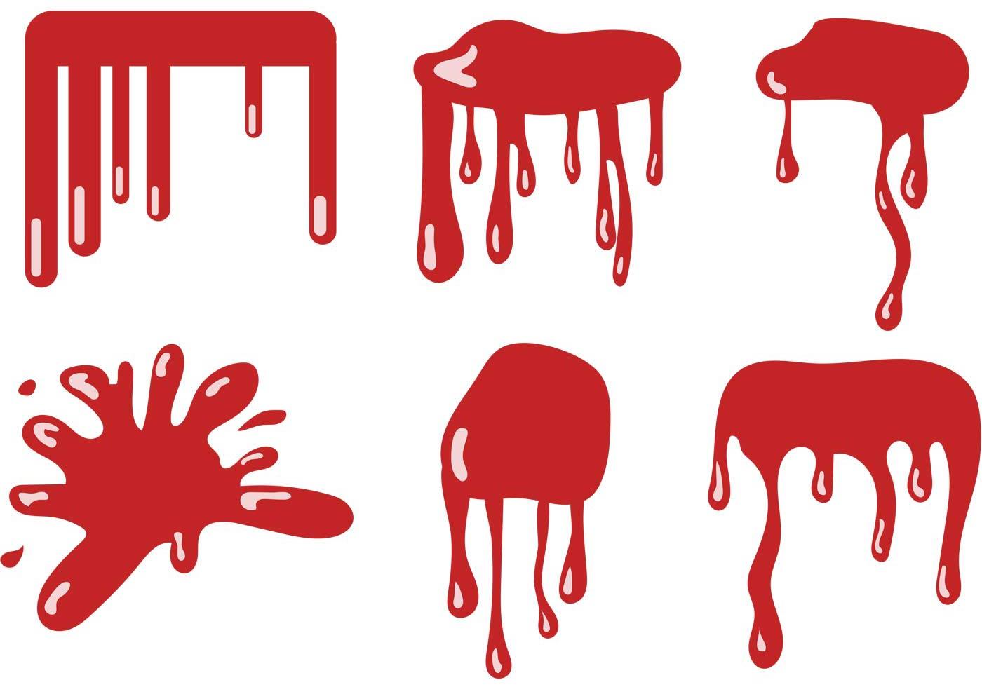 1400x980 Blood Dripping Vector Set
