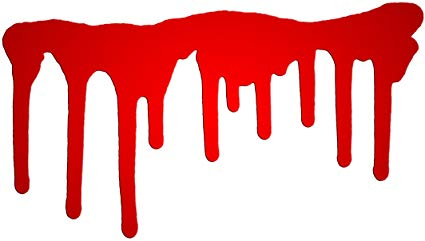 425x241 Dripping Red Blood Paint Vinyl Decal Sticker Two