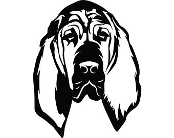 340x270 Bloodhound Clip Art Etsy