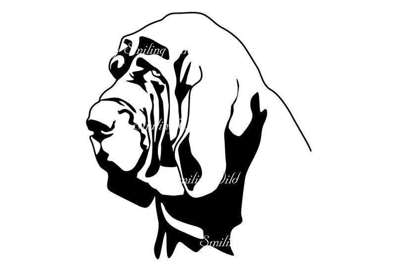 794x562 bloodhound clipart art design drawing bloodhound cutout etsy