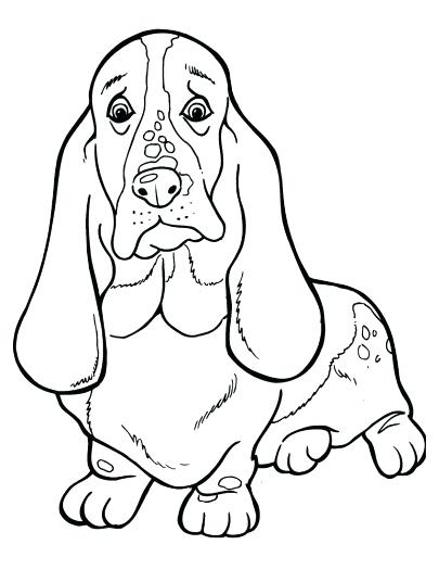 405x525 Bloodhound Coloring Pages