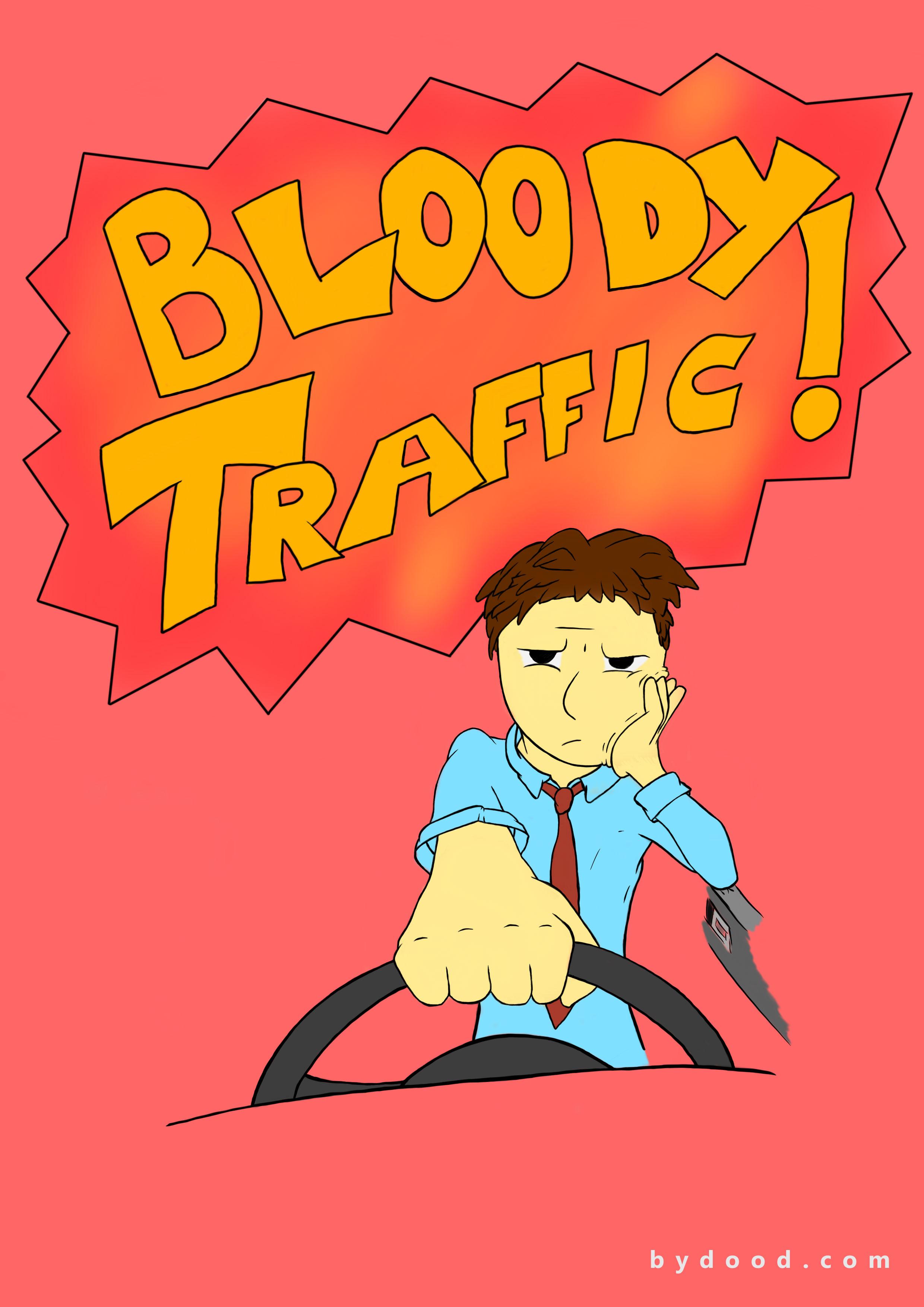 2480x3508 Drawing Bloody Traffic!