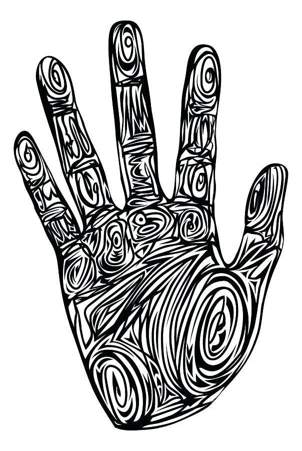 604x900 Hand Print Drawing Hand Print Skin Texture Pattern Vector