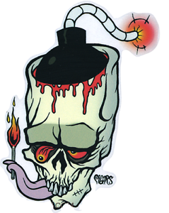 239x300 Lite It Up! Sticker Decal Bloody Skull Bomb Eric Pigors Ebay