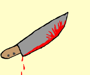 300x250 Bloody Knife Drawing Easy
