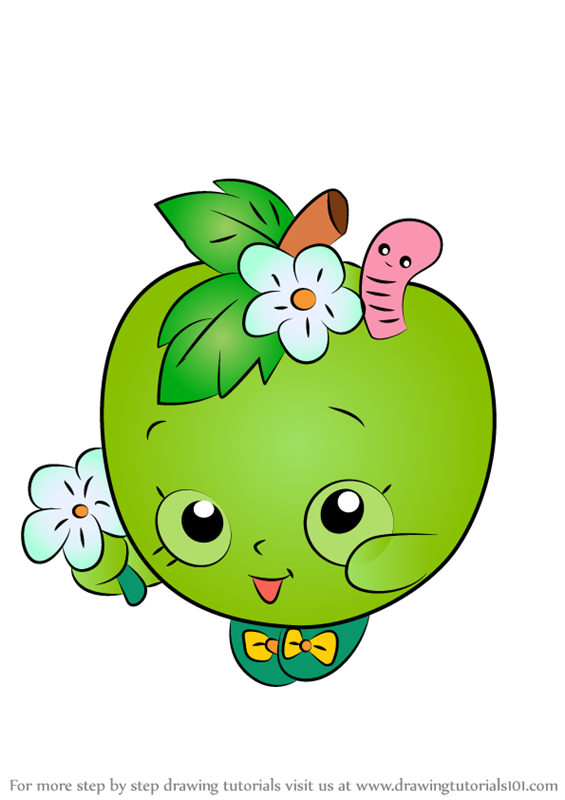 565x800 Learn How To Draw Apple Blossom From Shopkins