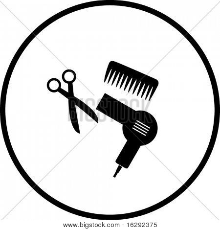 450x470 Blow Dryer And Scissors Clipart Clipart Station