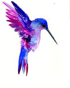 Blue Bird Flying Drawing