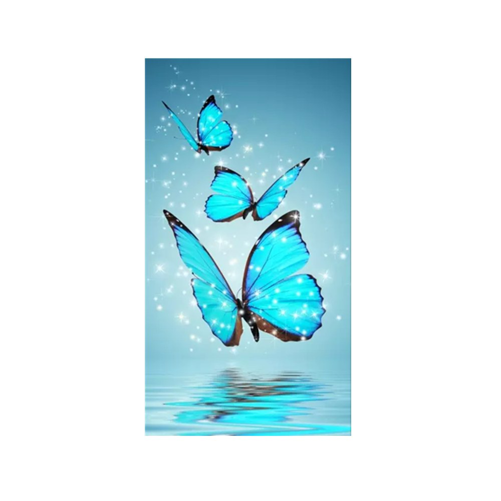 1000x1000 Long Version Of Blue Butterfly Print Draw Diamond Drawing In Blue