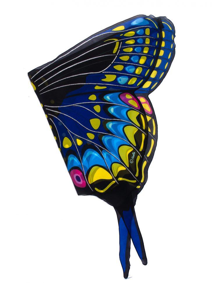 728x971 Wings Drawing Easy Images Devil Butterfly Blue In Wall Carmi