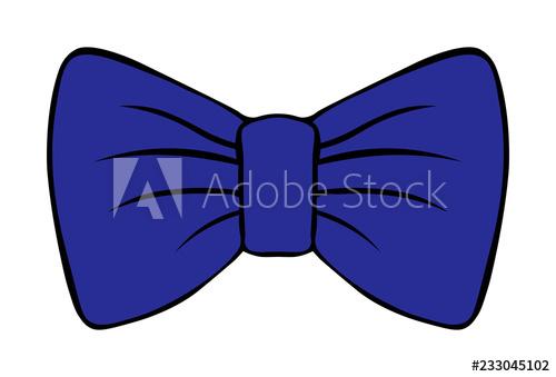 500x339 Children's Illustration Of Bow Costume Butterfly Dark Blue Vector