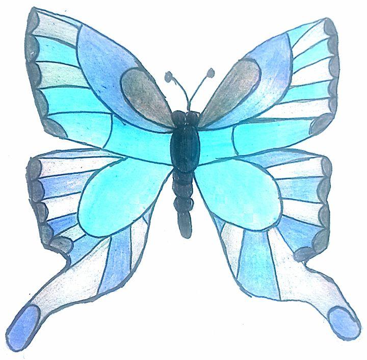 720x706 Blue Butterfly