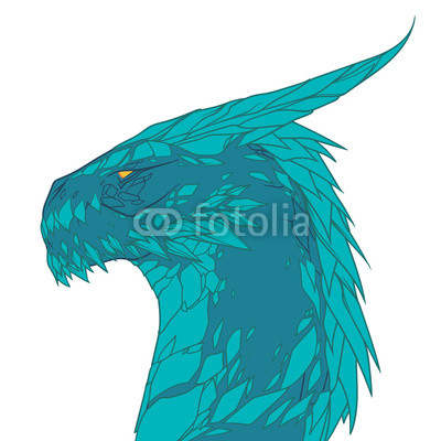 400x400 Amazing Blue Dragon With Lots Of Details, Profile Wyvern Buy