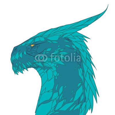 Blue Dragon Drawing