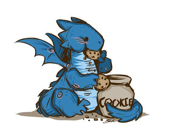 570x440 Blue Dragon Eating Cookies