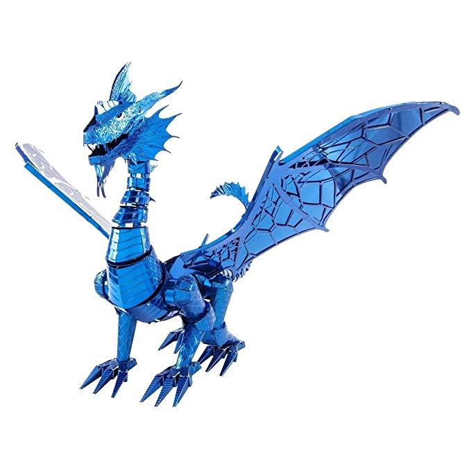 679x679 fascinations metal earth iconx blue dragon metal