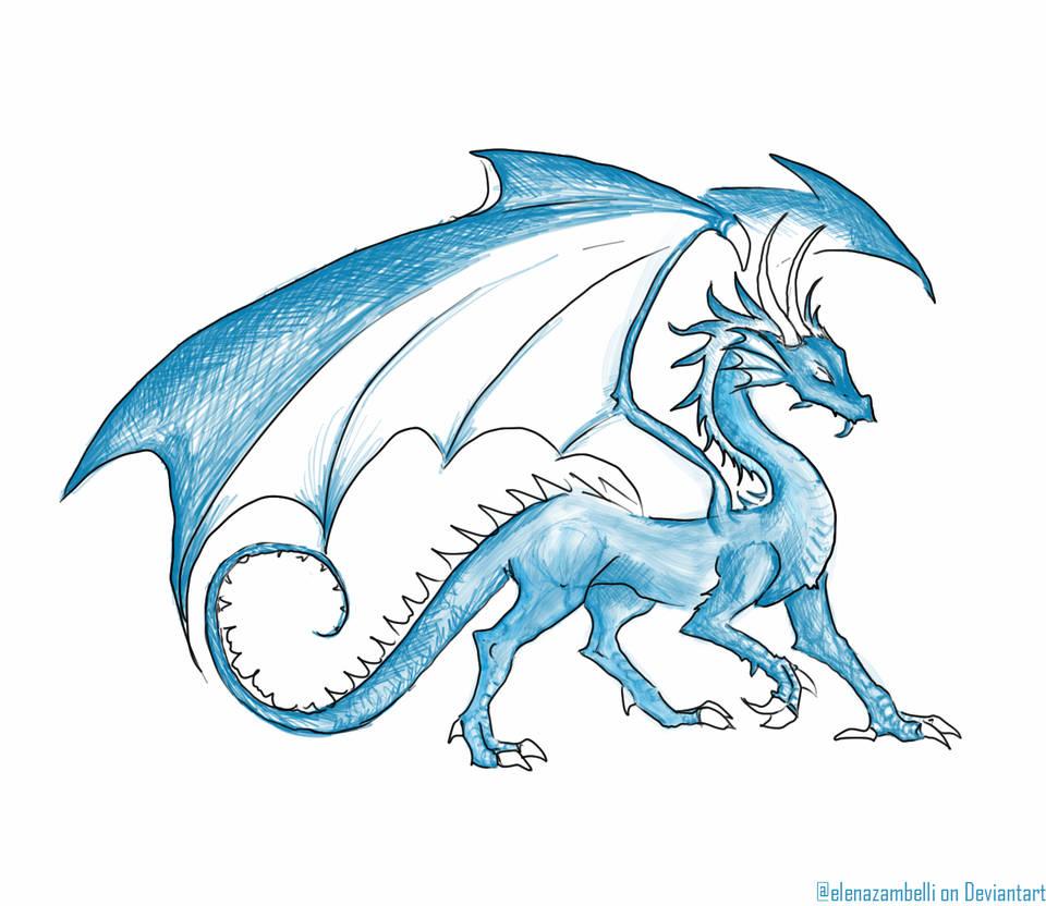 960x832 Menacing Blue Dragon